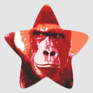 Pop Art Gorilla Star Sticker