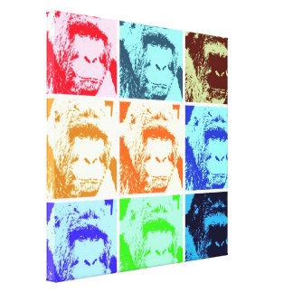 Pop Art Gorilla Wrapped Canvas