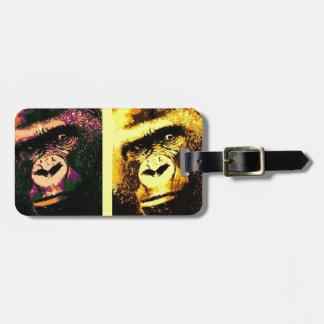 Pop Art Gorillas Bag Tags