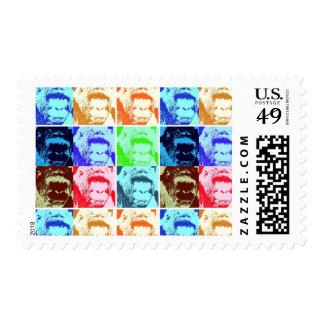Pop Art Gorillas Postage Stamps