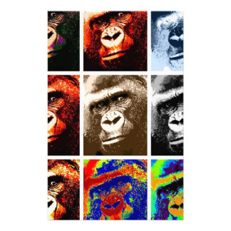 Pop Art Gorillas Stationery