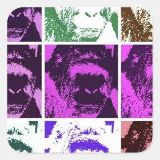 Pop Art Gorillas Square Sticker
