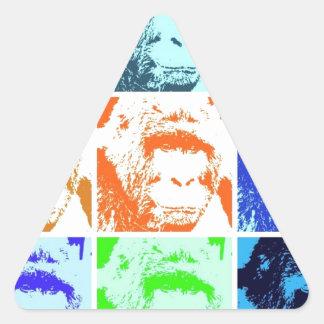Pop Art Gorillas Triangle Sticker