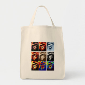 Pop Art Gorillas Tote Bag