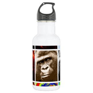 Pop Art Gorillas Water Bottle