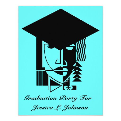 Pop Art Graduation Party Invitations Grad Abstract