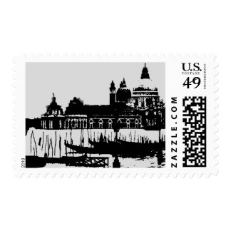 Pop Art Grand Canal Venice Italy Postage