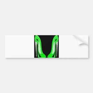Pop-Art Green and Black Stiletto Shoes Bumper Sticker