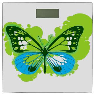 Pop Art Green Butterfly Bathroom Scales