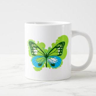 Pop Art Green Butterfly Mug