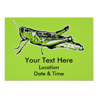 Pop Art Green Grasshopper Card