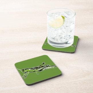 Pop Art Green Grasshopper Drink Coaster