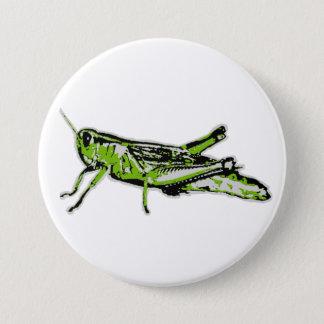 Pop Art Green Grasshopper Pinback Button