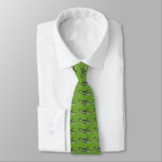 Pop Art Green Grasshopper Tie