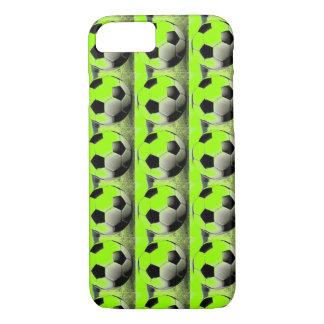 Pop Art Green Soccer Balls iPhone 7 Case