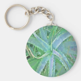 Pop Art Grey Green Aloe Keychain