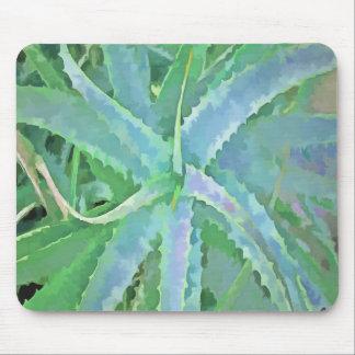 Pop Art Grey Green Aloe Mouse Pad