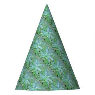 Pop Art Grey Green Aloe Party Hat