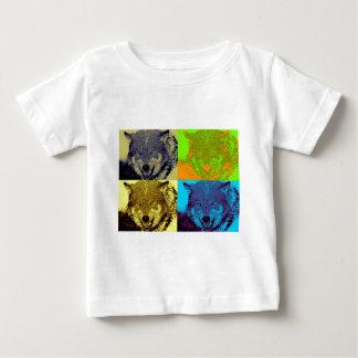 Pop Art Grey Wolf Baby T-Shirt
