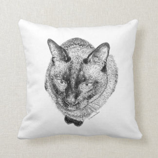 Pop Art Greyscale Kitty Pillow