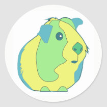 Pop Art Guinea Pig Classic Round Sticker