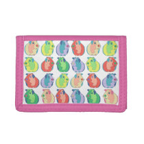 Pop Art Guinea Pig Pattern Tri-fold Wallet