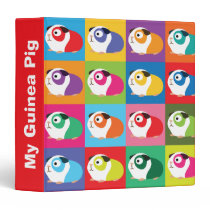 Pop Art Guinea Pigs 3 Ring Binder