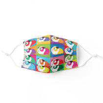 Pop Art Guinea Pigs Cloth Face Mask
