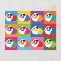 Pop Art Guinea Pigs Postcard