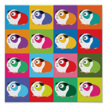 Pop Art Guinea Pigs Poster