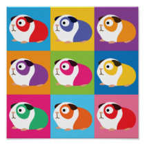 Pop Art Guinea Pigs Poster