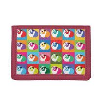 Pop Art Guinea Pigs Trifold Wallet