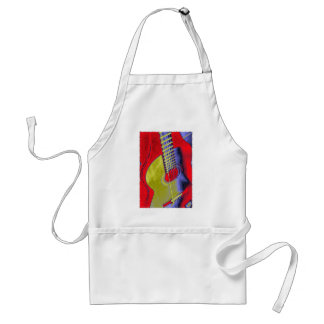 Pop Art Guitar Adult Apron