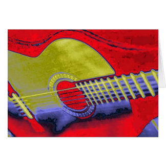 Pop Art Guitar Card