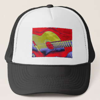 Pop Art Guitar Trucker Hat