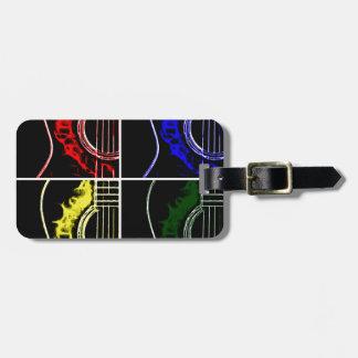 Pop Art Guitars Luggage Tag