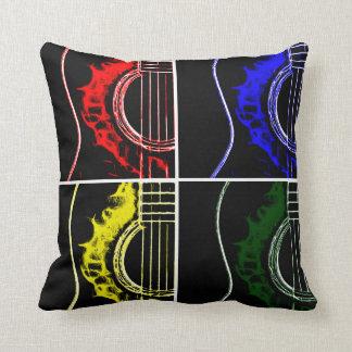 Pop Art Guitars Throw Pillow