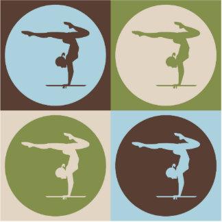 Pop Art Gymnastics Photo Cutouts