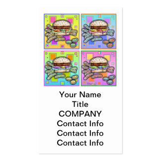Pop Art HAMBURGER BUSINESS CARD