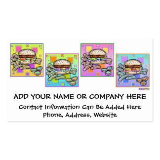 Pop Art HAMBURGER BUSINESS CARD - GIFT TAG