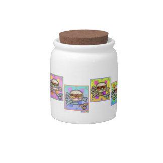 Pop Art HAMBURGER CONDIMENT or CANDY JAR