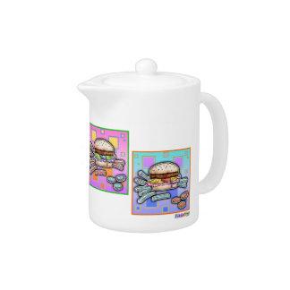 Pop Art HAMBURGER CREAMER or TEA POT