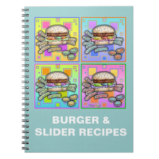 Pop Art HAMBURGER Recipe Notebook - Journal