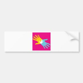 Pop Art Hands Bumper Sticker