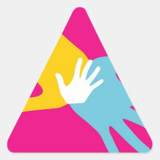 Pop Art Hands Triangle Sticker