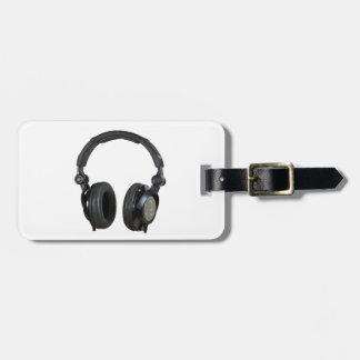 Pop Art Headphone Bag Tag