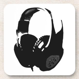 Pop Art Headphone Beverage Coaster