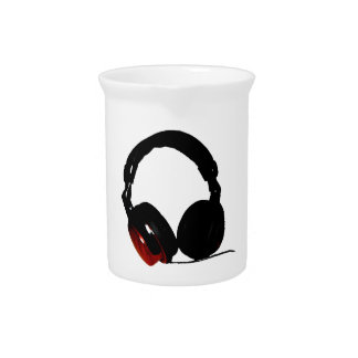 Pop Art Headphone Beverage Pitcher