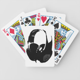 Pop Art Headphone Bicycle Playing Cards