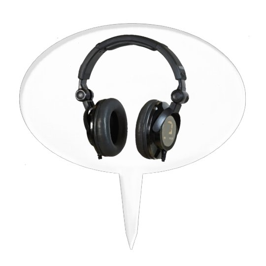 Pop Art Headphone Cake Topper